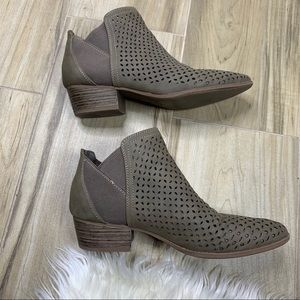 Seychelles Perforated Laser Cut Ankle Booties